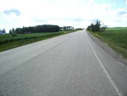 An enhanced and repaved road in Spirit River