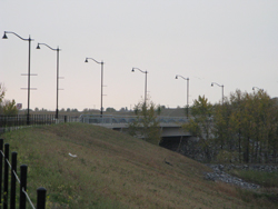 32nd Avenue now provides a major new north-south route and river crossing in Okotoks