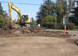 Replacing eight blocks of sewer main, including service lines to the curb and the street-level asphalt in Sedgewick