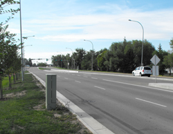 An upgraded road in Spruce Grove