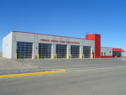 The new fire hall for the Town of Three Hills