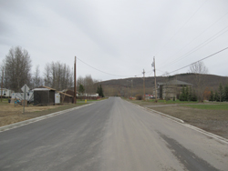reconstructed and widened part of 53rd Avenue in Chetwynd