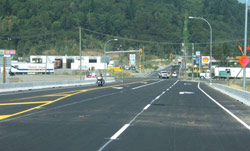 A new traffic signal system for the busy off-ramp and dedicated turn lanes at the existing traffic signal on Lickmand Road in Chilliwack