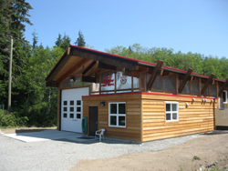 The new fire station in Port Renfrew