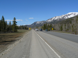 Highway 3 in Fernie