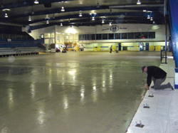 The new concrete rink surface at the Eddie Mountain Memorial Arena in Invermere