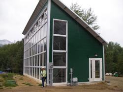 new greenhouse, which powers a solar aquatic wastewater system at the Christina Living Arts Centre in Kootenay