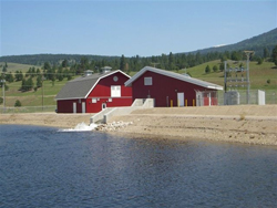 The new hydroelectric generating station in the District of Lake Country
