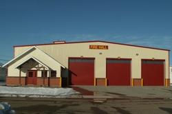 The new fire hall in Pouce Coupe