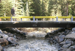 A new concrete bridge in Radium