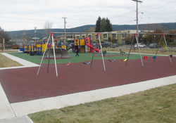 The new park in the downtown core of Williams Lake
