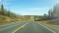 The newly paved road in Clearwater County