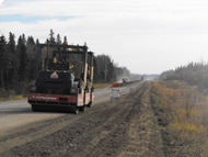 Construction on the road in Clearwater County