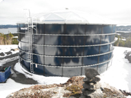 Marystown Water Treatment Plant tank