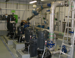 Drilling a new water supply well and constructing a one million-litre concrete reservoir and pumping station in Lorette