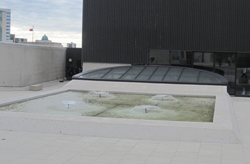 The new rooftop of the Winnipeg Art Gallery, Canada's sixth largest art gallery