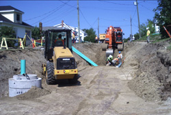 Construction of sewer, water and storm-water mains in Atholville