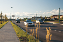 Paul Street incorporates a new sidewalk on one side and a new multi-use pathway on the other side in Dieppe.