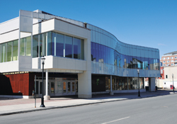 The 20,116-square-metre facility houses a theatre for up to 1,500 people for concerts and other major events in Fredericton.