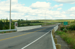 The Hugh John Flemming Bridge in Hartland