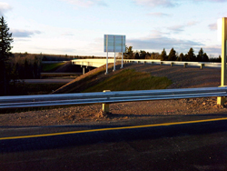 A new diamond interchange and connector road in Moncton