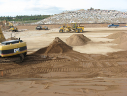 A new landfill cell at the Kaizer Meadow Solid Waste Facility in Chester