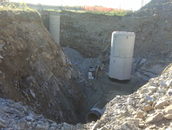 A new sanitary sewer trunk along the north shore of Lake Banook in Dartmouth
