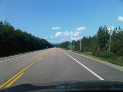 9.6 kilometres of north-bound Highway 105 have been repaved