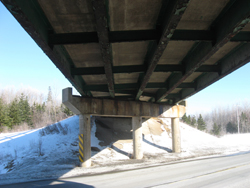 A new bridge, upgraded as part of the improvements to Highway 104 in Tracadie Harbour