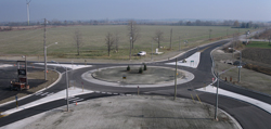 One of the new roundabouts in Essex County