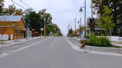 The newly improved Main Street in Lambton Shores