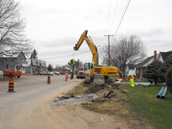 New watermains are being built in Laurentian Valley