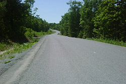 Anstruther Lake Road in North Kawartha Township