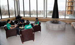 Seating area within the new Oak Ridges Community Centre