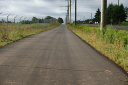 A multi-use trail that runs along Route 15 in Brackley
