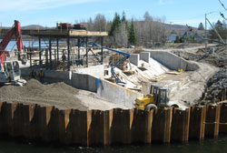 Construction of the new Cyrille-Delage Dam in Québec City.