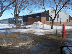 The new arena in the Centre multifonctionnel Richard-Lebeau