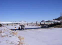A new bridge over Long Creek in Estevan