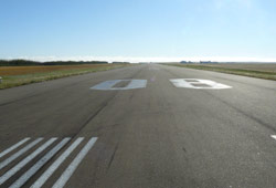 Refurbishing the runway in Kindersley