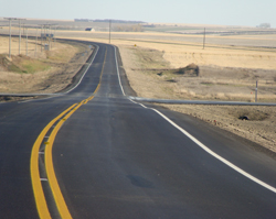 Sixteen kilometres of new road surface on Highway 32 in Lemsford