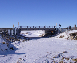 The new bridge over Antler River in Mount Pleasant