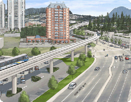 Drawing of future Evergreen Line