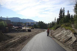 Multi-use paths under construction in Whitehorse