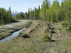 Kusawa Lake Road reconstruction in Whitehorse