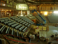 Building the arena in the new Civic Events Centre in Estevan