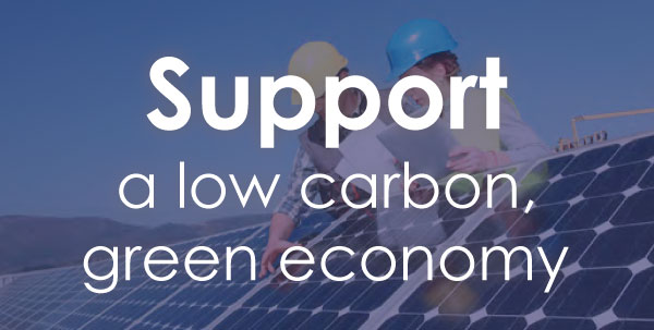 Support a low carbon, green economy.