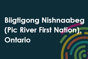 Biigtigong Nishnaabeg Pic River first Nation, Ontario icon
