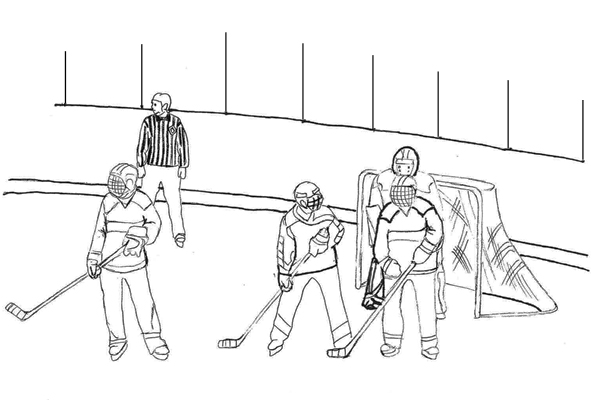 Hockey player colouring page. | Sports coloring pages, Coloring ... | 400x600