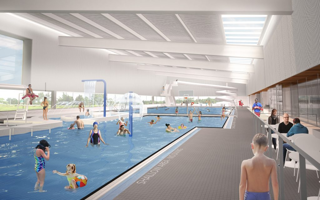 Digital rendering of pool at East Hants aquatic centre