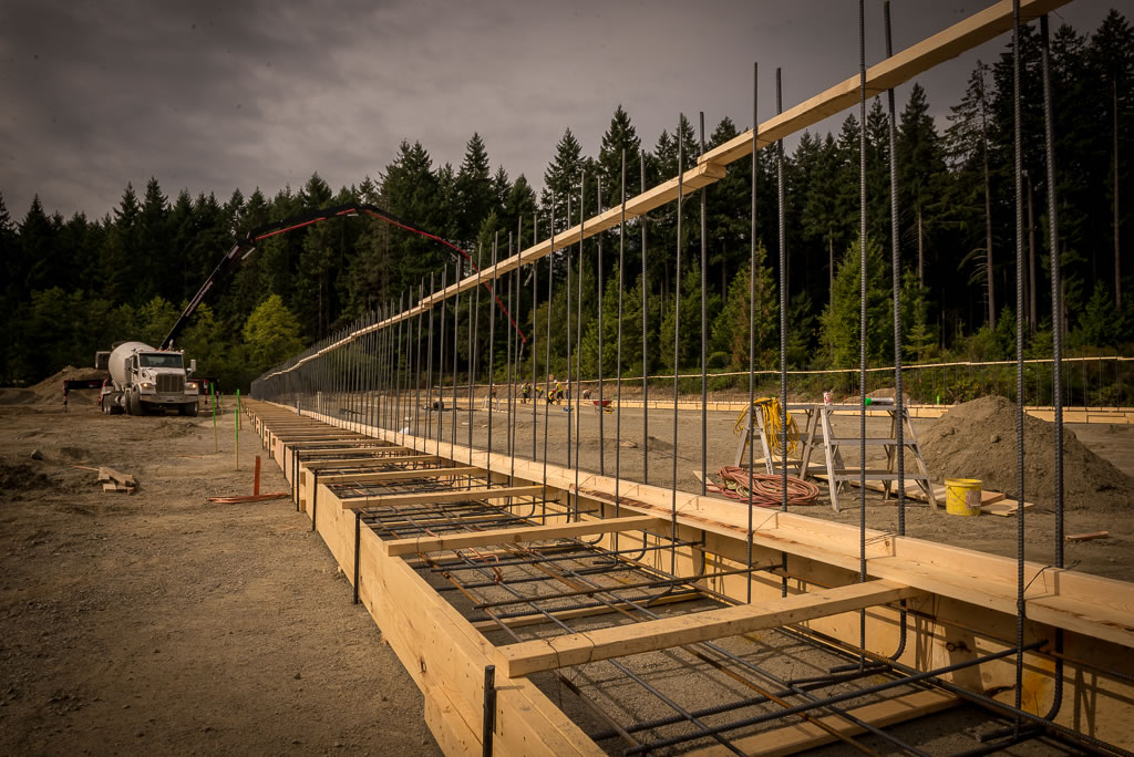 Construction site in Ladysmith, British Columbia